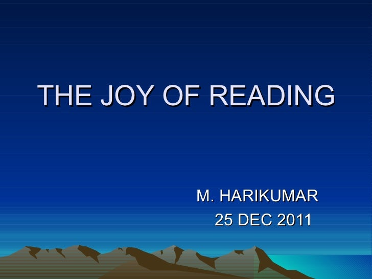 the joy of reading and writing: superman and me essay I hope that you enjoy reading the essays in this book, and that you find that they help you with your writ- the joy of reading and writing: superman and me 15 5,.