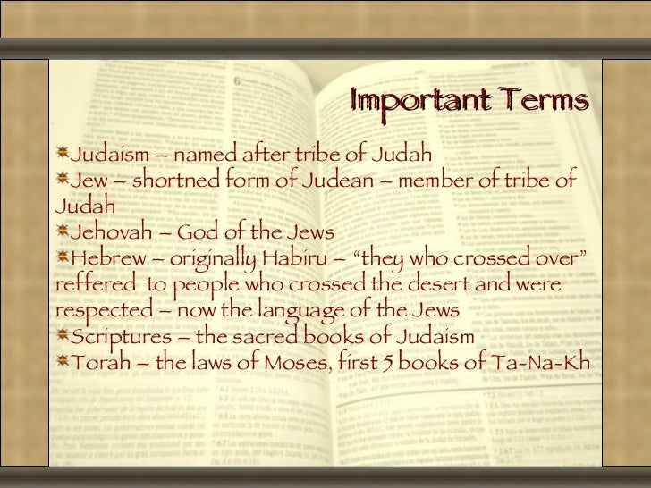 The Judaism Powerpoint