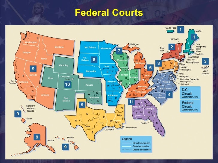 Us Federal Courts Map - Almanac of the federal judiciary