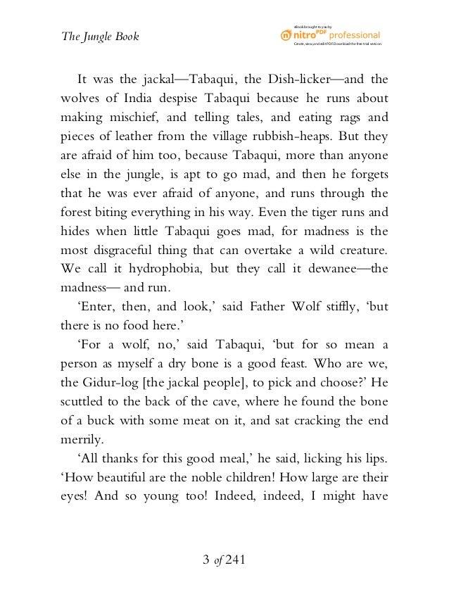 The jungle book summary pdf