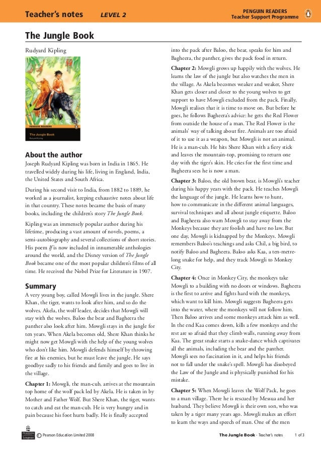 A summary of the jungle book