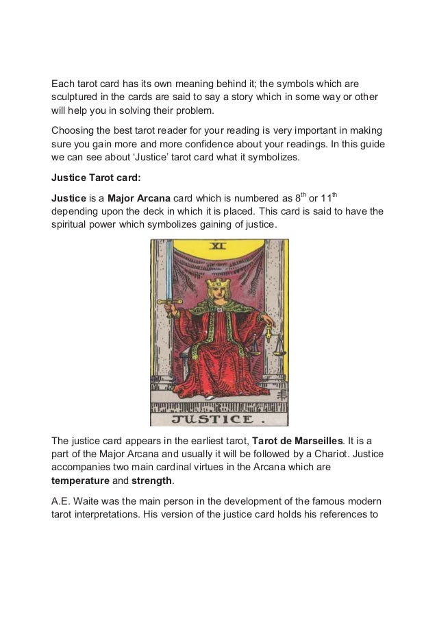 The Justice Tarot Card & What It Symbolizes
