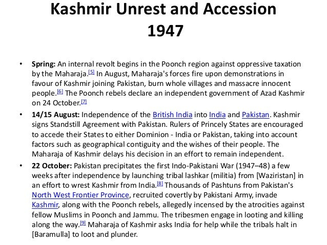 The kashmir issue essay