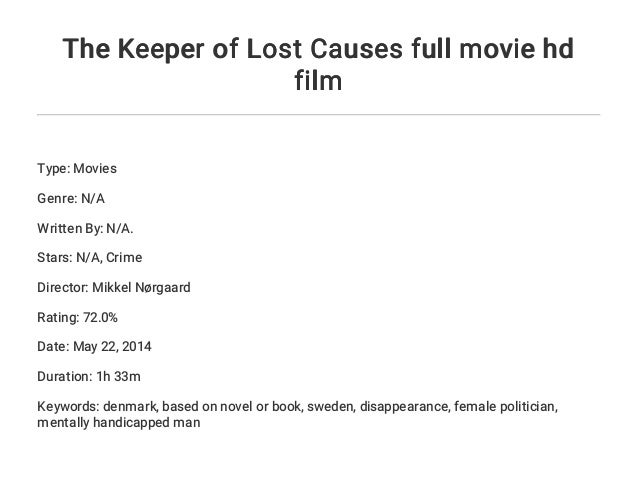 Download Film Keeper Lost Causes 2013