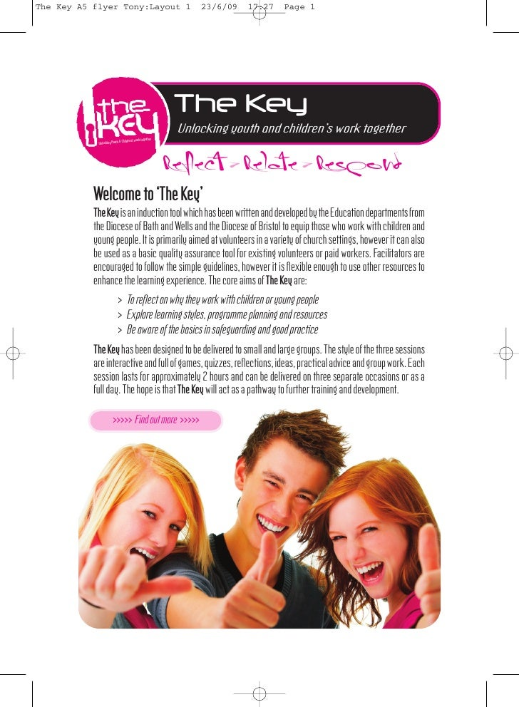 The Key A5 flyer Tony:Layout 1            23/6/09      17:27      Page 1                                       The Key    ...