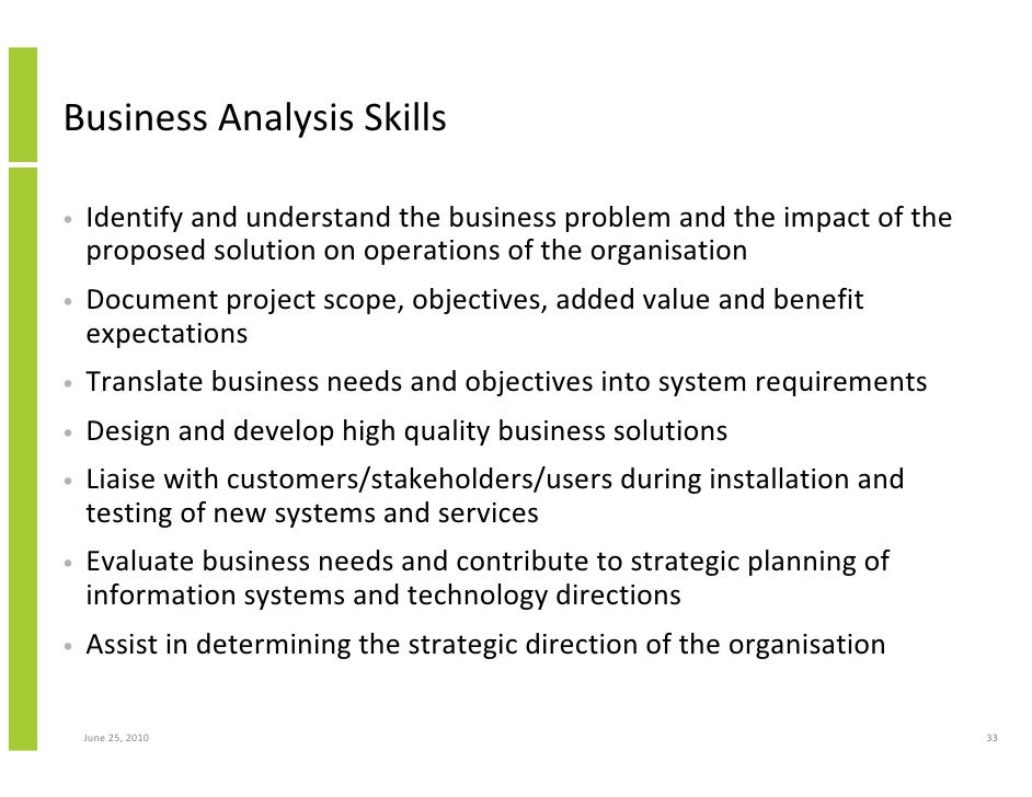 Business analytical skills