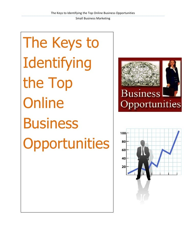 The Keys to Identifying the Top Online Business Opportunities                     Small Business MarketingThe Keys toIdent...