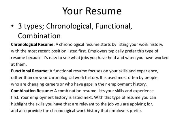 new type of resumes