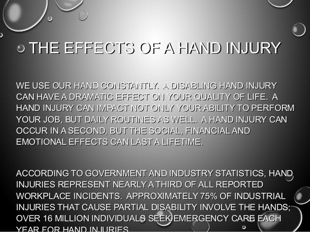 The key to hand injury prevention Slide 2