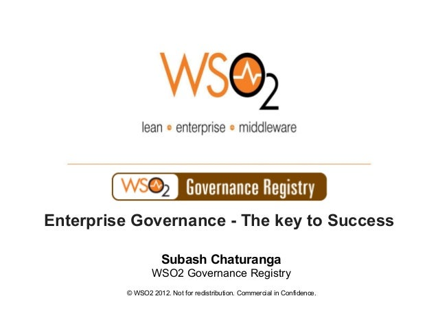 © WSO2 2012. Not for redistribution. Commercial in Confidence.Subash ChaturangaWSO2 Governance RegistryEnterprise Governan...