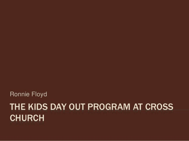 The Kids Day Out Program at Cross Church