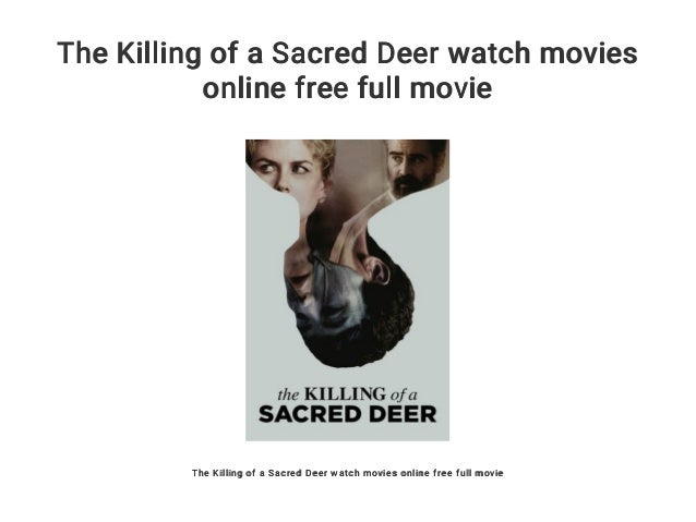 The Killing Of A Sacred Deer Watch Online