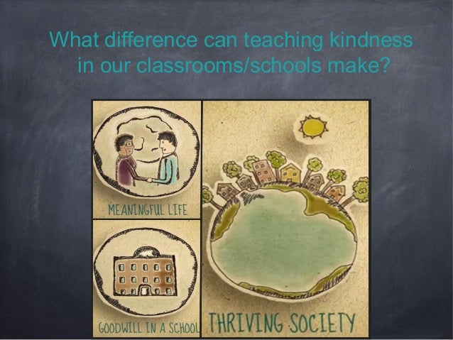 What difference can teaching kindness in our classrooms/schools make?