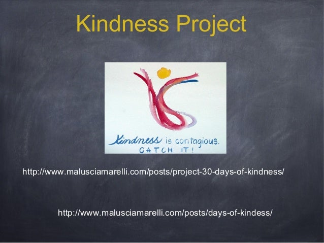 Kindness Project  http://www.malusciamarelli.com/posts/project-30-days-of-kindness/  http://www.malusciamarelli.com/posts/...