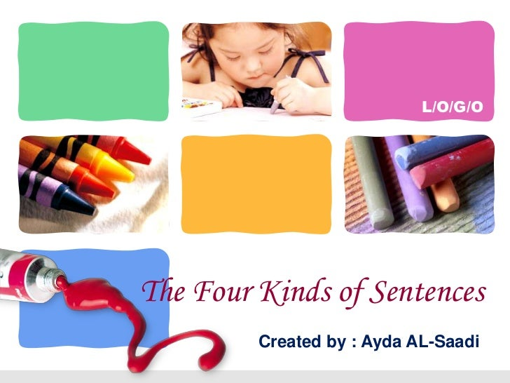 The Four Kinds of Sentences<br />Created by : Ayda AL-Saadi<br />