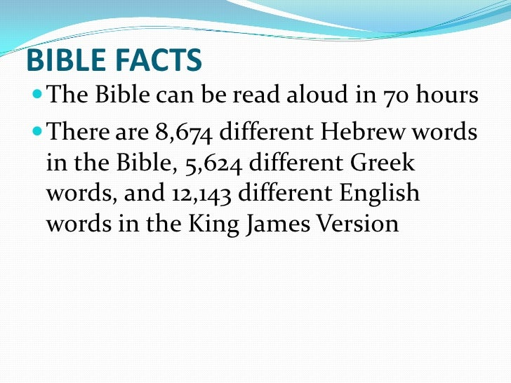 Amazing Bible Facts and Statistics