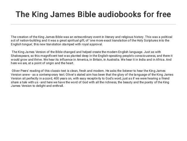 The King James Bible audiobooks for free