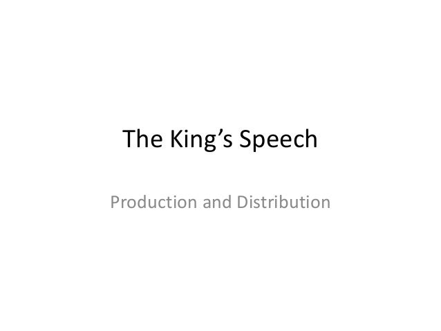 The King's Speech Production and Distribution