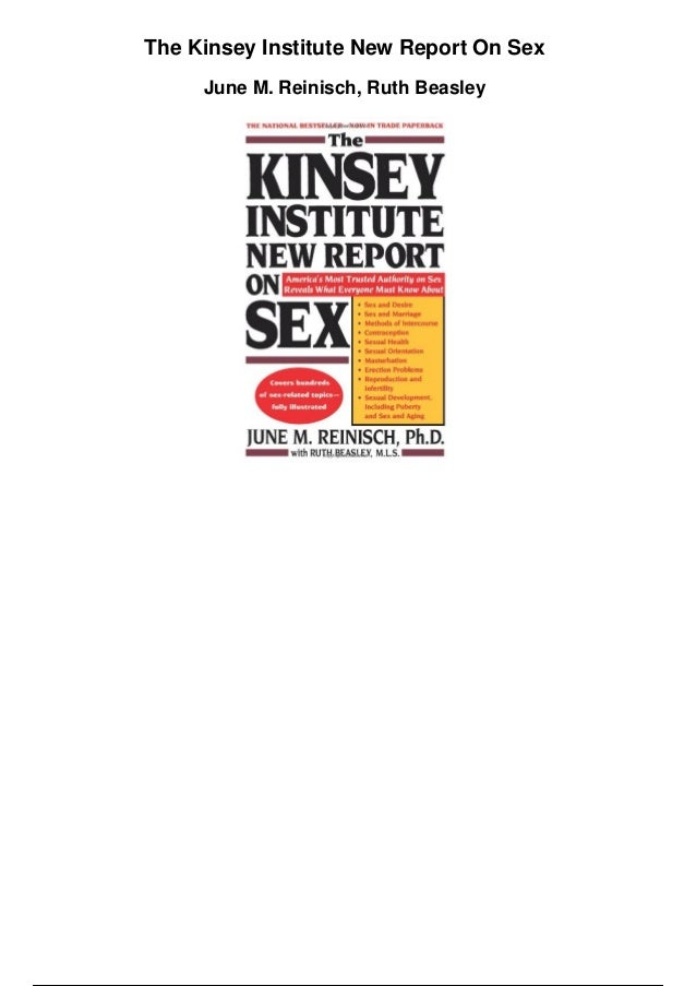 The kinsey institute new report on sex
