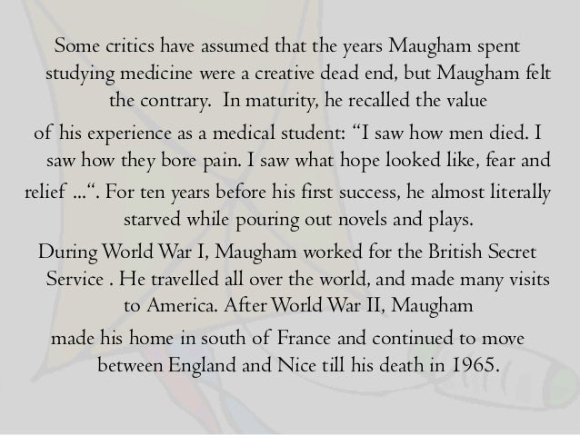 the kite by somerset maugham critical analysis pdf