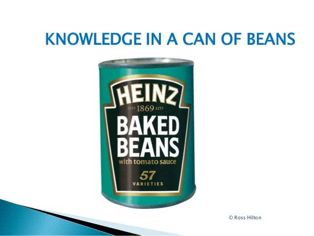 KNOWLEDGE IN A CAN OF BEANS                   © Ross Hilton
