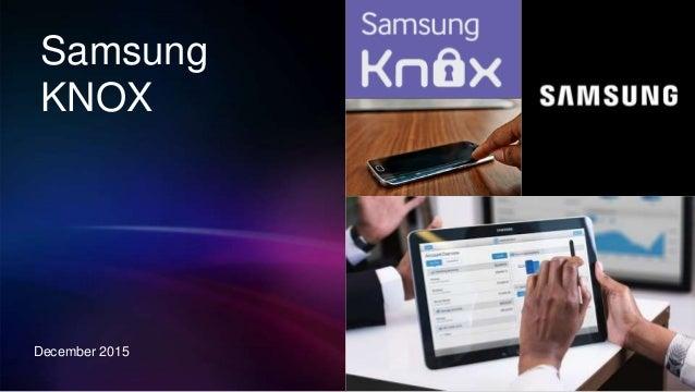 Samsung KNOX December 2015