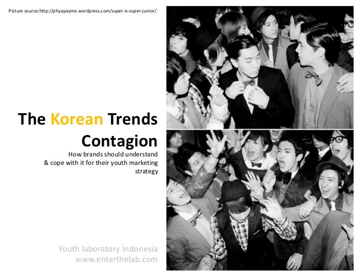 Picture source:http://phyapayme.wordpress.com/super-is-super-junior/<br />The Korean Trends<br />Contagion<br />How brands...