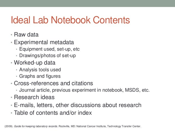 Lab Notebooks: A Librarian's Primer