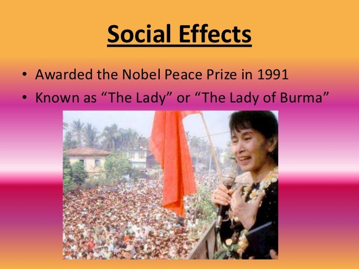 Social Causes<br />Her commitment<br />to democracy has<br />caused her more<br />than 15 years in <br />detention and<br ...