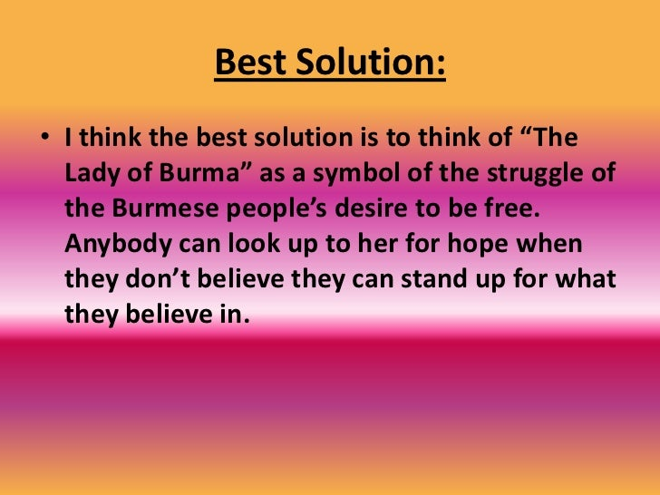 Solution #2- Grow Support for her Cause <br />Negative<br />The people who benefit from the  socialist regime have a harde...