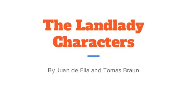 the landlady analysis