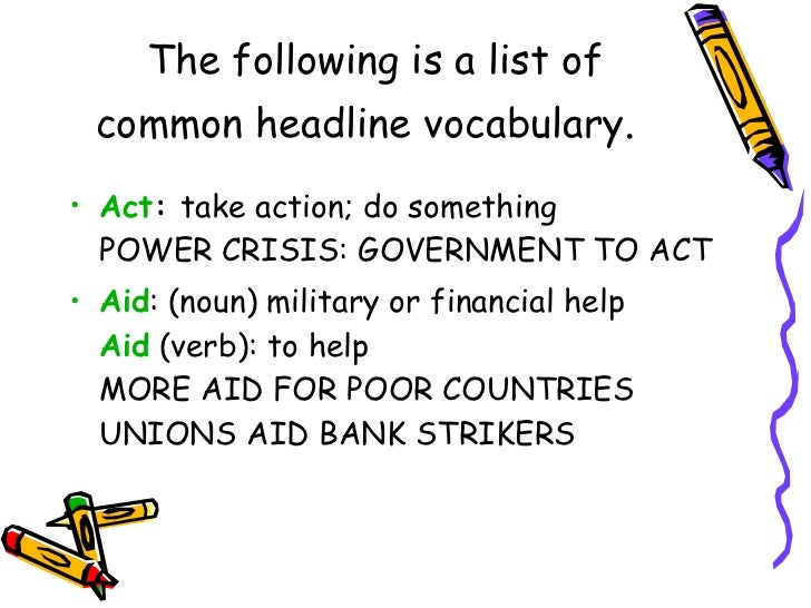 the language of headlines  30