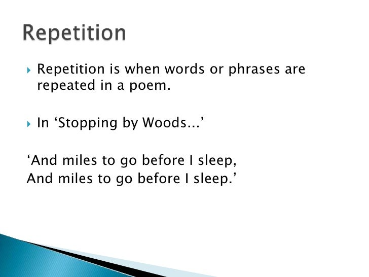 Repetition Poems 6