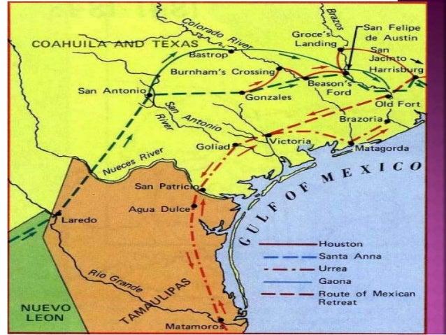Map Of Texas Revolution.The Last Battles Of The Texas Revolution