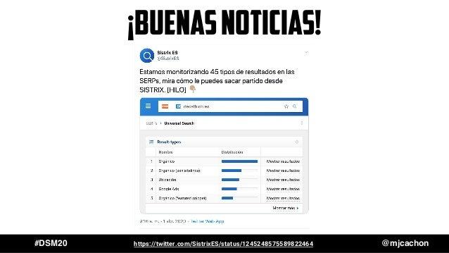 #DSM20 @mjcachonhttps://twitter.com/SistrixES/status/1245248575589822464 ¡buenasnoticias!