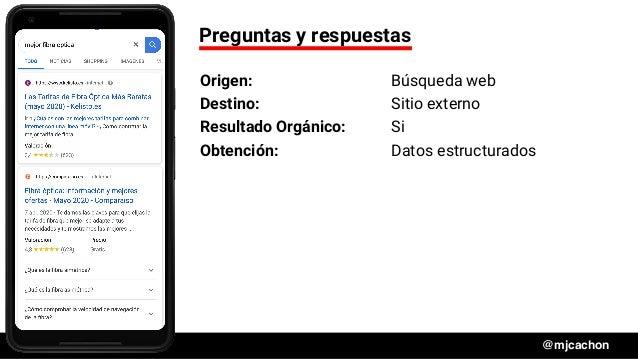 #DSM20 @mjcachon Preguntas y respuestas Origen: Búsqueda web Destino: Sitio externo Resultado Orgánico: Si Obtención: Dato...