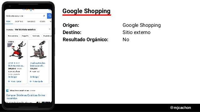 #DSM20 @mjcachon Google Shopping Origen: Google Shopping Destino: Sitio externo Resultado Orgánico: No
