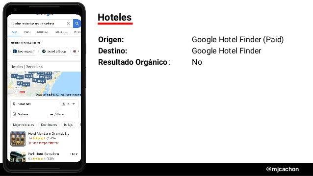 #DSM20 @mjcachon Hoteles Origen: Google Hotel Finder (Paid) Destino: Google Hotel Finder Resultado Orgánico: No