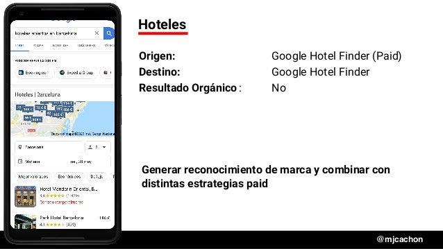 #DSM20 @mjcachon Hoteles Origen: Google Hotel Finder (Paid) Destino: Google Hotel Finder Resultado Orgánico: No Generar re...