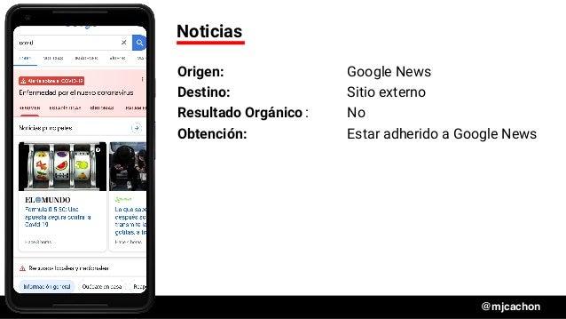 #DSM20 @mjcachon Noticias Origen: Google News Destino: Sitio externo Resultado Orgánico: No Obtención: Estar adherido a Go...