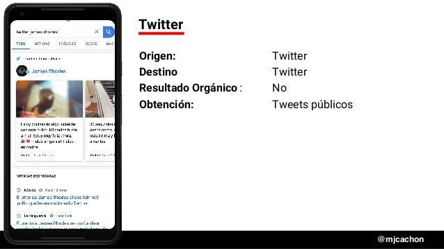 #DSM20 @mjcachon Twitter Origen: Twitter Destino Twitter Resultado Orgánico: No Obtención: Tweets públicos
