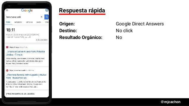 #DSM20 @mjcachon Respuesta rápida Origen: Google Direct Answers Destino: No click Resultado Orgánico: No