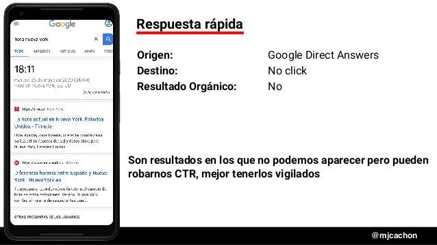 #DSM20 @mjcachon Respuesta rápida Origen: Google Direct Answers Destino: No click Resultado Orgánico: No Son resultados en...