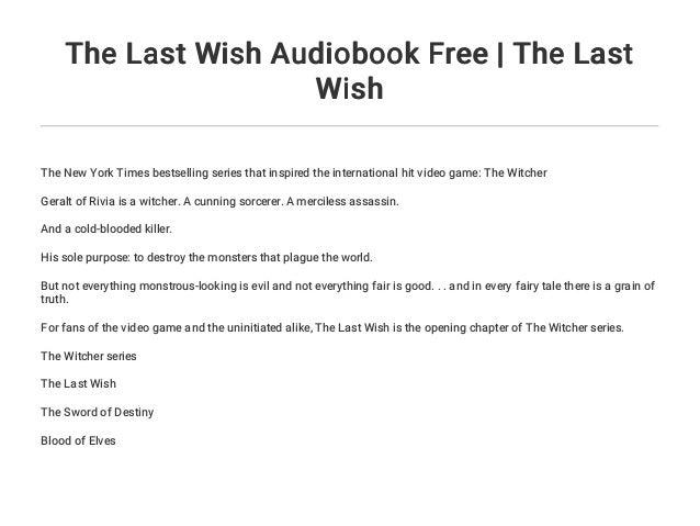 the last wish witcher audiobook kopermimarlik