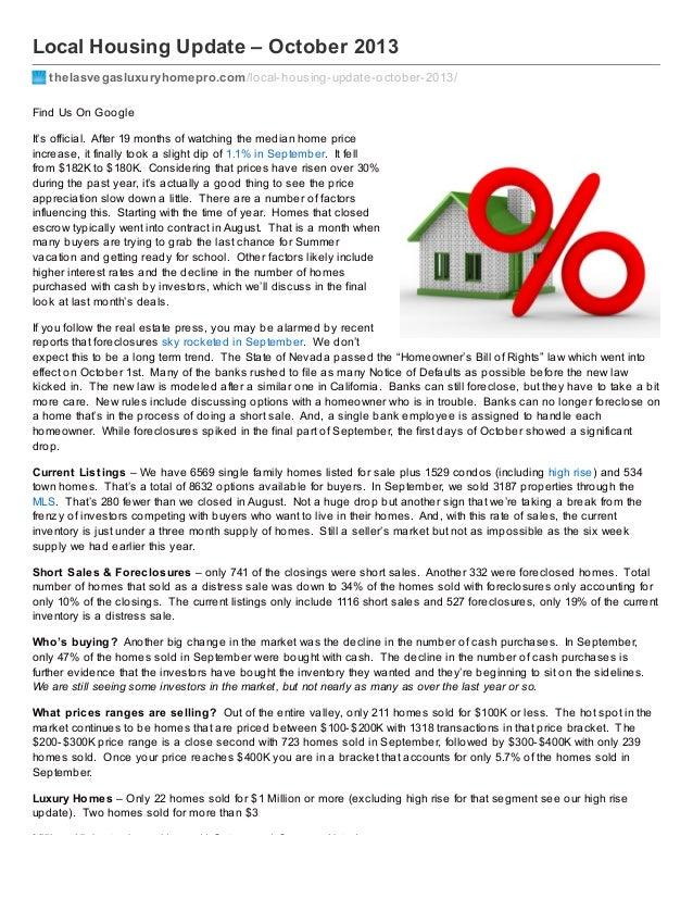 Local Housing Update – October 2013 thelasvegasluxuryhomepro.com/local-housing-update-october-2013/ Find Us On Google It's...