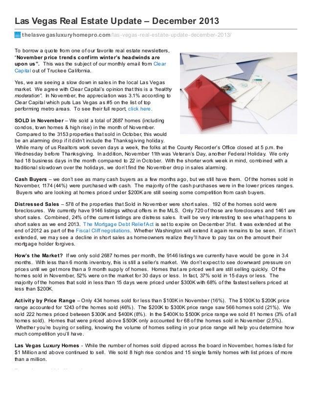 Las Vegas Real Estate Update – December 2013 thelasvegasluxuryhomepro.com /las-vegas-real-estate-update-december-2013/ To ...