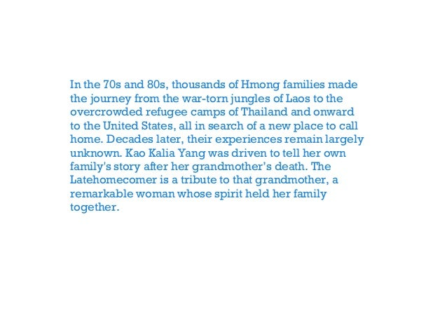 Get The latehomecomer a hmong family memoir Full Audiobook.