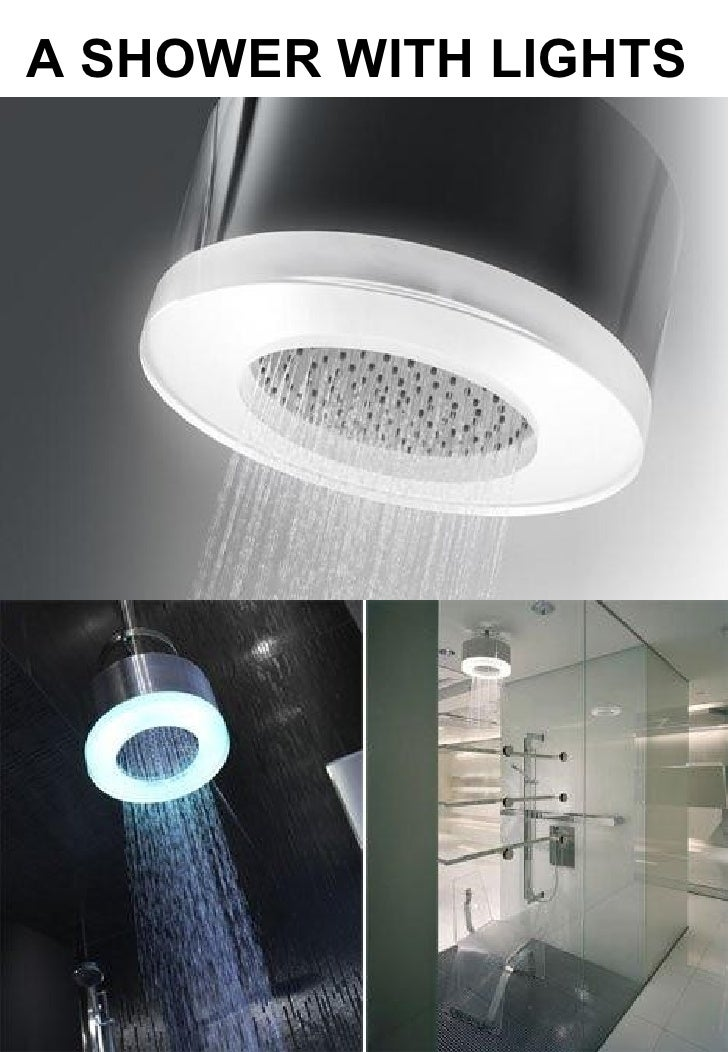 A SHOWER WITH LIGHTS