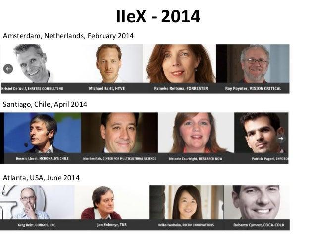 IIeX - 2014 Amsterdam, Netherlands, February 2014 Santiago, Chile, April 2014 Atlanta, USA, June 2014