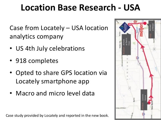 Location Base Research - USA Case from Locately – USA location analytics company • US 4th July celebrations • 918 complete...